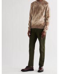 Massimo Alba Alagna Tie-dyed Cashmere Sweater - Brown