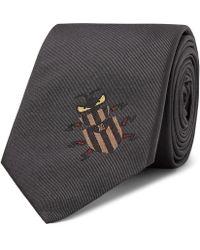 Fendi - 6.5cm Embroidered Silk-jacquard Tie - Lyst