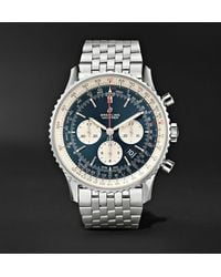 Breitling Navitimer 1 Chronograph 46mm Steel Watch, Ref. No. Ab0127211c1a1 - Blue