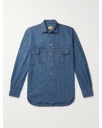 L.E.J Cotton Shirt - Blue