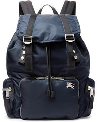 Burberry - Leather-trimmed Nylon Backpack - Lyst