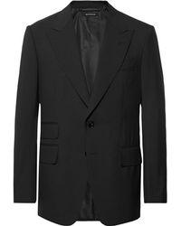 Tom Ford Black Shelton Slim-fit Wool Suit Jacket