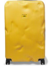 Crash Baggage Stripe Large Polycarbonate Suitcase - Yellow