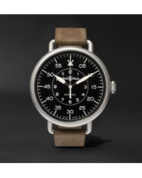 Bell & Ross - Ww1-92 45mm Steel And Distressed Suede Watch - Lyst