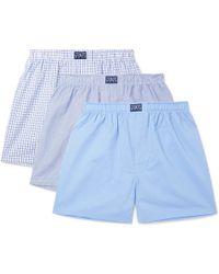 Polo Ralph Lauren - Three-pack Cotton-poplin Boxer Shorts - Lyst