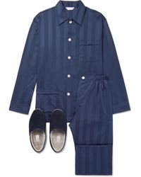 Derek Rose Sleepwear Gift Set - Blue