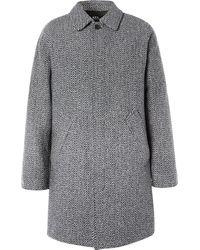 A.P.C. - Ivan Herringbone Wool-blend Coat - Lyst