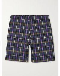 MR P. Checked Cotton-poplin Golf Shorts - Purple