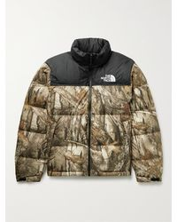 The North Face 1996 Retro Nuptse Quilted Printed Shell Down Jacket - Brown