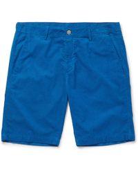 Massimo Alba - Slim-fit Watercolour-dyed Cotton-corduroy Shorts - Lyst