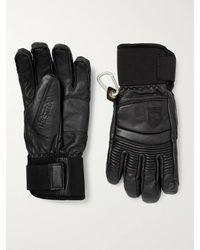 Hestra Fall Line Leather Padded Ski Gloves - Black