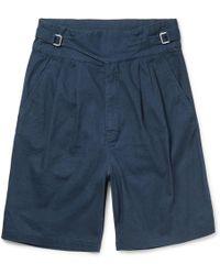 Eidos - Ghurka Wide-leg Cotton Shorts - Lyst