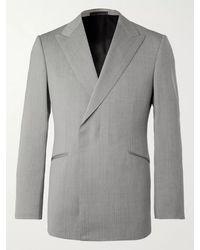 Kingsman Conrad Slim-fit Double-breasted Herringbone Wool Suit Jacket - Grey