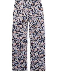 Sleepy Jones Henry Printed Cotton Pajama Shirt - Blue