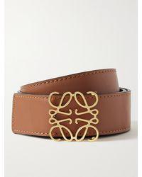 Loewe 3cm Reversible Leather Belt - Brown