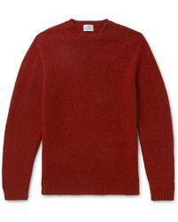 Kingsman Shetland Wool Sweater - Red