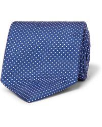Emma Willis 9cm Polka-dot Silk-twill Tie - Blue