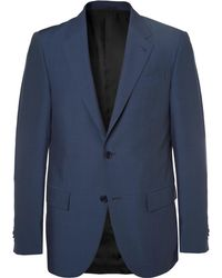 Ermenegildo Zegna - Navy Milano Slim-fit Wool And Silk-blend Suit - Lyst