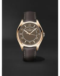Vacheron Constantin Fiftysix Automatic 40mm 18-karat Pink Gold And Leather Watch - Brown