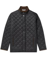 Peter Millar Suffolk Microfibre-trimmed Quilted Shell Jacket - Black