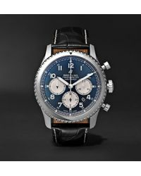 Breitling - Navitimer 8 B01 Chronograph 43mm Stainless Steel And Alligator Watch - Lyst