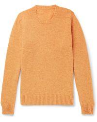 Anderson & Sheppard - Mélange Shetland Wool Sweater - Lyst