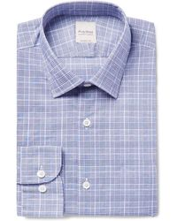 Hardy Amies - Slim-fit Prince Of Wales Checked Cotton Shirt - Lyst