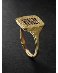 Elhanati Tokyo Gold Diamond Ring - Metallic