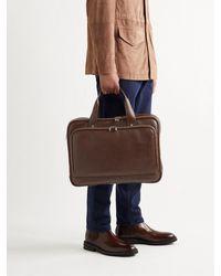 Brunello Cucinelli Leather Briefcase - Brown