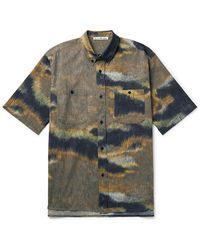 Acne Studios Sanper Button-down Collar Printed Cotton Shirt - Brown