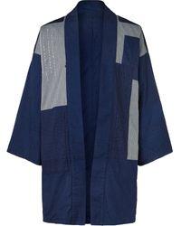 Blue Blue Japan Reversible Patchwork Denim Jacket - Blue