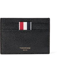 Thom Browne Leather Cardholder - Black