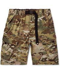 Nike - Lab Camouflage-print Stretch-shell Shorts - Lyst