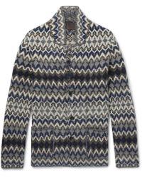 Altea - Intarsia Wool-blend Cardigan - Lyst