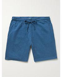 Hartford Cotton-jersey Drawstring Shorts - Blue