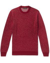 Loro Piana - Mélange Linen, Cashmere And Silk-blend Sweater - Lyst