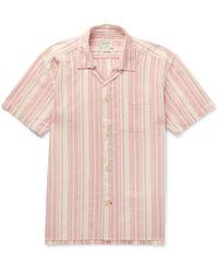 Oliver Spencer - Farrow Striped Organic Cotton Pyjama Shirt - Lyst