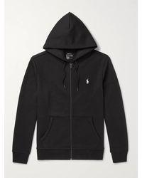 Polo Ralph Lauren Jersey Zip-up Hoodie - Black