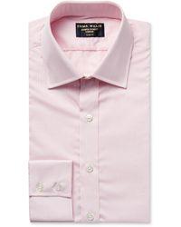 Emma Willis Slim-fit Checked Cotton-poplin Shirt - Pink