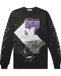 Flagstuff Evangelion Printed Cotton-jersey T-shirt - Grey