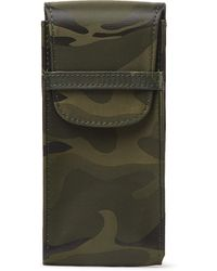 Rapport London Camouflage-print Coated-canvas Watch Case - Green