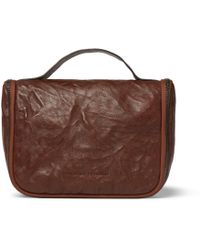 Brunello Cucinelli - Textured-leather Hanging Wash Bag - Lyst
