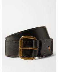 Acne Studios 4cm Leather Belt - Black