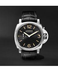 Officine Panerai - Luminor 1950 3 Days Acciaio 42mm Stainless Steel And Alligator Watch - Lyst