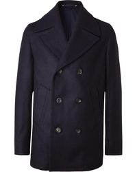 Private White V.c. Woolmark Melton Merino Wool Peacoat - Blue