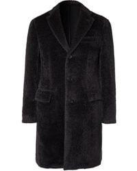 Brioni Slim-fit Alpaca And Virgin Wool-blend Coat - Grey