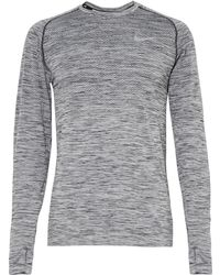 Nike - Knit-panelled Dri-fit Top - Lyst