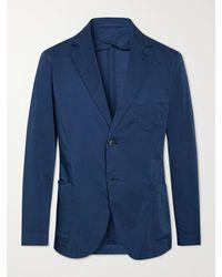 Frescobol Carioca Paulo Unstructured Cotton-blend Blazer - Blue