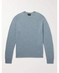 Tom Ford - Slim-fit Cashmere And Cotton-blend Sweater - Lyst