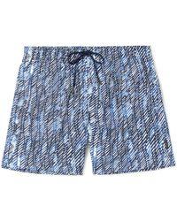 Ermenegildo Zegna - Mid-length Printed Swim Shorts - Lyst